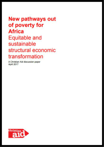 New pathways out of poverty for Africa: Equitable and sustainable structural economic transformation by Christian Aid